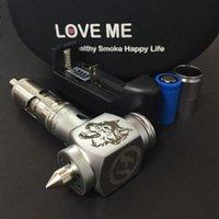 Cheap 1pc lot high quality Love Me Taifun GT V2 Atomizer + Wolf Hammer Mod E pipe Mechanical Mod Kit free shipping