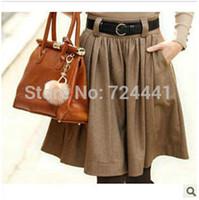 Cheap wool blending skirts Best casual woolen skirt