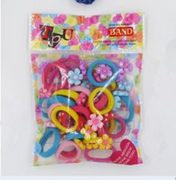 Wholesale 50 cm Cartoon Elastic Hair Rubber Rope Baby Ponytail Holder Kids elastic hair band Todder Hair Accessories style