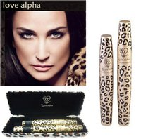 cosmetic eyelash - Brand Makeup Leopard Print Mascara Rimel Waterproof Cosmetics Maquiagem Long Eyelash Eyelashes Love Alpha Make up Sex Products