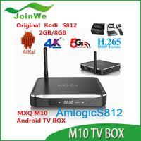 Wholesale MXQ M10 Android kitkat Quad Core Kodi TV Box Amlogic S812 Cortex A9 GHZ K D P Mali MPWiFi