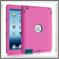 Wholesale Defender shockproof Robot Case kick off stand military Extreme Heavy Duty silicon cover for ipad mini