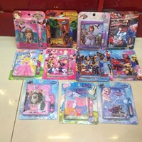 Wholesale 2015 big hero pig sofia mouse Princess Spider Man Stationery Set IN notebook pen Elsa Anna Notepad cartoon children learn Stationery
