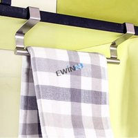 Wholesale New and high quality Modern Stainless Steel Over Door Kitchen Tea Towel Rail Drawer Holder Cloth