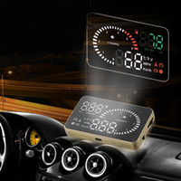 hud - 2015 News X6 quot Car HUD Head Up Display OBD II Speed Warning System Display Fuel Consumption Security System