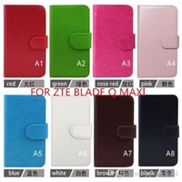 Cheap Luxury leather cell phone case for ZTE BLADE L2 ZTE BLADE L3 ZTE BLADE G LUX ZTE KIS 3 MAX V830W ZTE BLADE Vec 4G ZTE BLADE Q MAXI