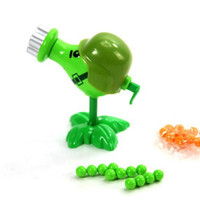 abs plant - Plants vs Zombies Figure Toys Gatling Pea ABS Shooting Doll PVZ Toys