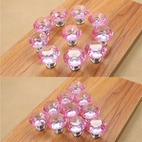beautiful kitchen cabinets - Children daughter girls room beautiful pink K9 crystal glass cabinet pulls and knobs glass kitchen cabinet handles knobs
