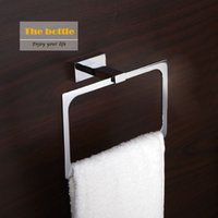 Wholesale Fashion new classical square polished chrome copper towel ring Bathroom hardware hanging cloth rack