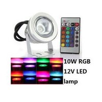 Wholesale 10W V LM RGB Aquarium Fountain LED Underwater Pool Light Lamp Flat Lens energy saving led lighting