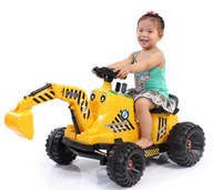 Wholesale Large excavators can sit Keji children electric car excavator digging machine hook machine Toys