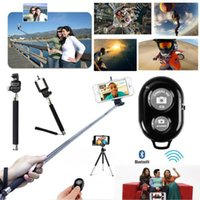 Wholesale 50 set Z07 Handheld Monopod selfie stick Bluetooth Remote Shutter Phone Clip Holder for IOS Iphone Android SAMSUNG Cell Phone JF