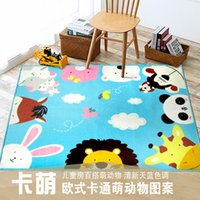 animal encyclopedia - Children s cartoon Animal Encyclopedia carpet environmental protection non slip nylon Childhood Education carpet X130CM