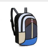 Wholesale brand new Hot unsix D Jump Style D Drawing From Cartoon Paper Bag Comic D Student backpack Time backpack