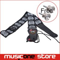 Wholesale 5pcs New Totem Black Strap Adjustable Acoustic Guitar Strap Bass with Pick Holder MU0411