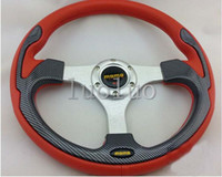 Aluminum geely - MOMO steering wheel inch car modified PVC leather racing steering wheel F0 Charade Geely