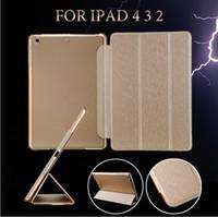 al por mayor ipad cubierta elegante de la estela del sueño-Para Pro 9.7 Fold cubierta elegante magnética del iPad Mate cajas traseras plegable de la caja IPAD 2 Aire Mini Retina con estela de reposo automático