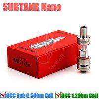 Subtank Nano Clearomizer 3.0ml réservoir Nano 0,5 1,2 Sous ohm atomiseur double bobine 510 fil 1: 1 clone avec un mini de meilleure qualité V Kanger