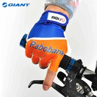 agu cycling - Giant Promotion AGU Rabobank Team Ciclismo Luvas Bike Bicycle Cycling Cycle Summer Short Half Finger Gloves Size M L