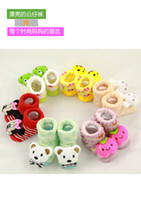 baby dolls shoes - Baby baby warm socks in winter three dimensional cartoon doll shoes and socks Duantong newborn babies combed cotton floor socks