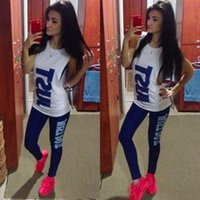 american football costume - 2016 Newest Women Sexy Sports Clothing Set Summer Sport Suit Costume Women s Tracksuits Tops Pants Tanks