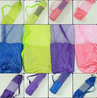 Wholesale Itemship Good quality polyester mesh net bag yoga bags yoga mat bags
