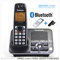 Wholesale KX TG7621 DECT Link to Cell via Bluetooth Cordless Phone Answering System Wireless Home Telephone