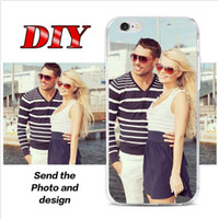 add art - DIY Customized Cases Add your Name Logo Picture Soft TPU Clear Transparent Back Cover Art Print Case for iphone S plus S
