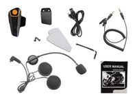 Wholesale Motorcycle helmet Bluetooth intercom headset cable wireless waterproof FM music