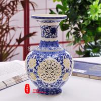 Wholesale China antique archaize high grade tusk porcelain vase Hand carved paintings Porcelain vase