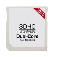Wholesale 2015 White SDHC Dual Core Dual Core RTS Game Cards Adapter Flash card cart cartridge for DS DS DSi LL XL NDSL NDS DHL FEDEX