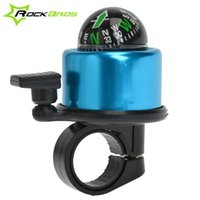 bic metal - icycle Accessories Bicycle Bell ROCKBROS Bike Safety Metal Handlebar Ring Bell Horn With Compass Loud Sound Cycling Bicycle Bell Horn Bic