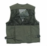 Cheap Fall-Free Shipping New Arrival Multi Pockets Fishing Vest Outdoor Hiking Photography Vest Waistcoat For Photographer Reporters VT001