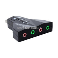 Wholesale External USB Sound Card Virtual Channel Cartoon Audio Adapter For Laptop Desktop With Dual Input Output Port Mute With Volume Control