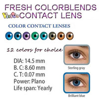 cosmetic contact lenses - and lens case popular big eyes look SEXY EYE COLOR CHANGED tone cosmetic colour contact lenses mix colors