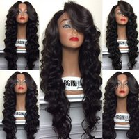 swiss lace wig - High Quality Brazilian Hair glueless full lace wig lace front wig with baby hair Fashion Body Wave Style