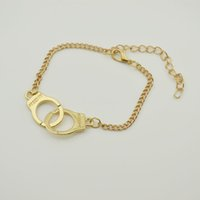 asos bracelet - ASOS alloy Handcuff Bracelets gold manacle bangles hand cuffs for women men punk statement jewelry Christmas gift
