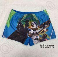 Cheap 40PCS HHA612 New kids star wars swim trunks children boys swimsuit kids beachwear cartoon Darth vader swimwear trunks