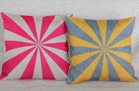 Wholesale 45x45cm Vintage Cotton Linen Chevron Cushion Cover Pillow Case Fade Geometric Star blossom Home Decorative Pilow Case