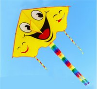 Wholesale NEW Outdoor Fun Shark Sport Kite without handle Line high quality Smile flying higher Big Kites