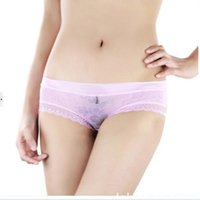 Wholesale hot sale transparent briefs for women lace underwear sexy ladies panties lingerie high quality free size black red brand underwear