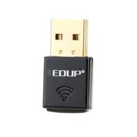EDUP Mini 2.4G 300Mbps 300M USB sans fil WiFi adaptateur 802.11b / g / n Ordinateur PC Réseau LAN Card dongle externe Wi-Fi Receiver C2575