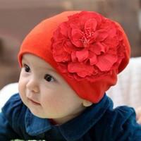 Wholesale 2015 Little Baby girls Lace Flower hats Kids girl fashion beanies hair accessories Children s spring summer beanies hat