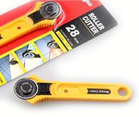 1pc / lot, cuchillo de la rueda 28 mm de mosaico ropa, redondo de acero Rotary cortador rodante para la oficina herramientas de bricolaje trabajo de corte de papel