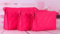 Wholesale 6 Color Rhombus Candy Cosmetic Bag Women Make Up Tools Storage Bag Wash Gargle Bag Mini Travel Bags Sizes