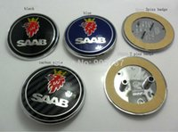 Wholesale Good quality pc alloy mm SAAB front bonet bonnet rear boot hood badge blue pins pins car emblem