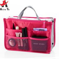 Wholesale 2016 cosmetic organizer travel bag women men casual travel bag multi functional make up kits storage bag in bag makeup handbag