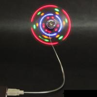 Wholesale 500PCS Mini USB fan LED Mini Colorful Flexible USB Fan Cooling Cooler For Notebook Laptop tablet pc Q8 Q88 PC