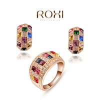 best colors weddings - 015 ROXI Brands fashion Gold plated weddings party sets Austrian crystal Nickeless jewelry set best Christmas gifts