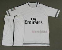 thailand football jerseys - 2015 footbal team home white soccer jerseys short sleeve football uniform Brand sport shirts thailand quality tracksuits